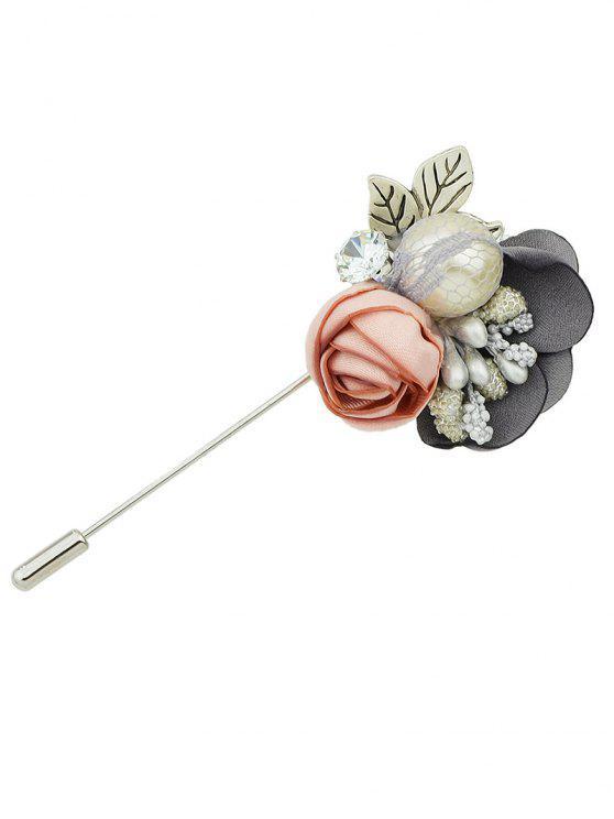 Broche en forma de flores Lover - Gris