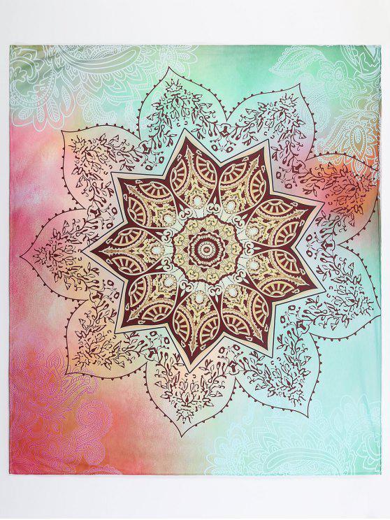 unique Lotus Flower Pattern Beach Throw - COLORMIX M