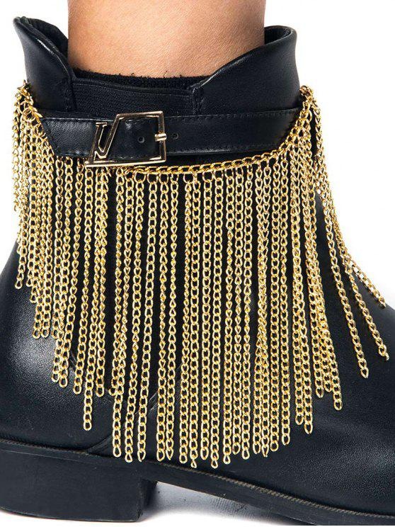 outfits Chain Tassel Boot Anklet - GOLDEN