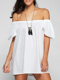 Loose Off The Shoulder Cap Sleeve Blouse - White S