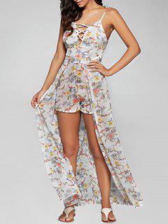 Vestido Largo De Tiras Floral Cami Con Pantalones Cortos - Floral M