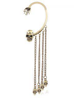 Skull Chain Tassel Ear Cuff - Copper Color