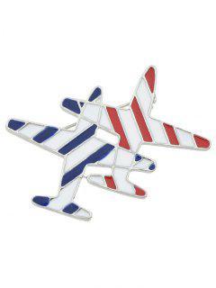 Flight Shape Enamel Brooch - White
