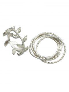 A Set Of Leaf Rings - Silver