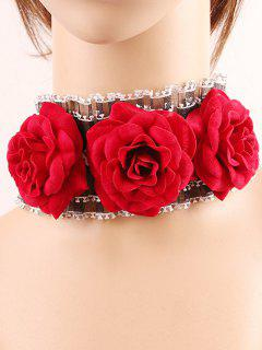 Rose Lace Choker - Rouge