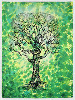 Green Tree Serviette De Plage - Vert L