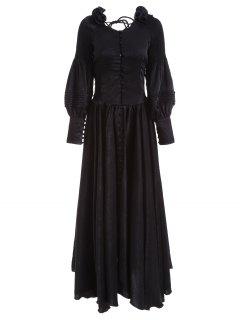 Maxi Robe De Bal Vintage - Noir M