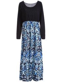 Long Sleeves Maxi Casual Dress - Xl