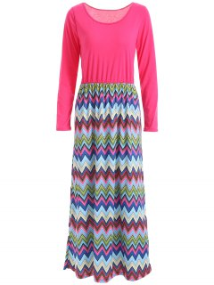 Zig Zag Maxi Dress - S