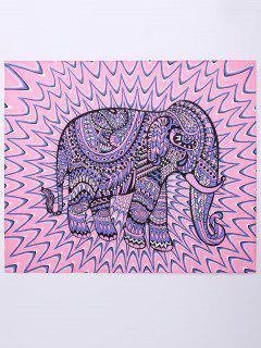 Elepant Beach Throw - Pink And Purple M
