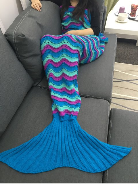 Color Block Crochet Knitting Mermaid Schwanz Design Umfassender - COLORMIX   Mobile