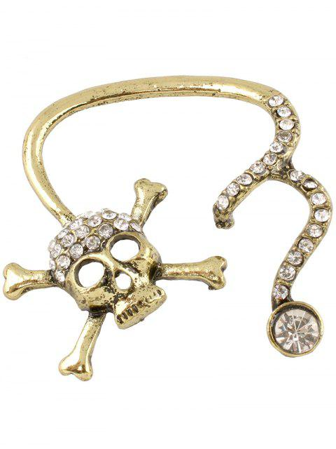 hot Rhinestone Skull Ear Cuff -   Mobile
