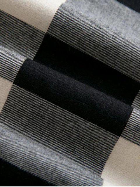 Hooded surdimensionnées Chemise à carreaux - Multicolore S Mobile