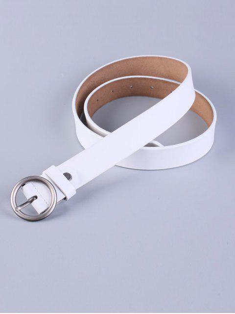 new Round Pin Buckle Faux Leather Belt - WHITE  Mobile
