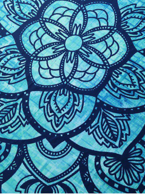 chic Large Floral Rectangle Beach Throw - MULTI M Mobile