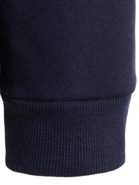 womens Letter Print Plus Size Sweatshirt - DEEP BLUE 5XL Mobile