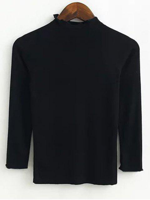 womens Fitting Knitwear - BLACK S Mobile