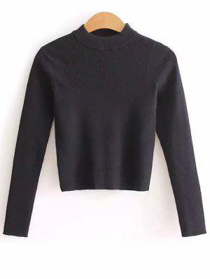Stehkragen Crop Pullover