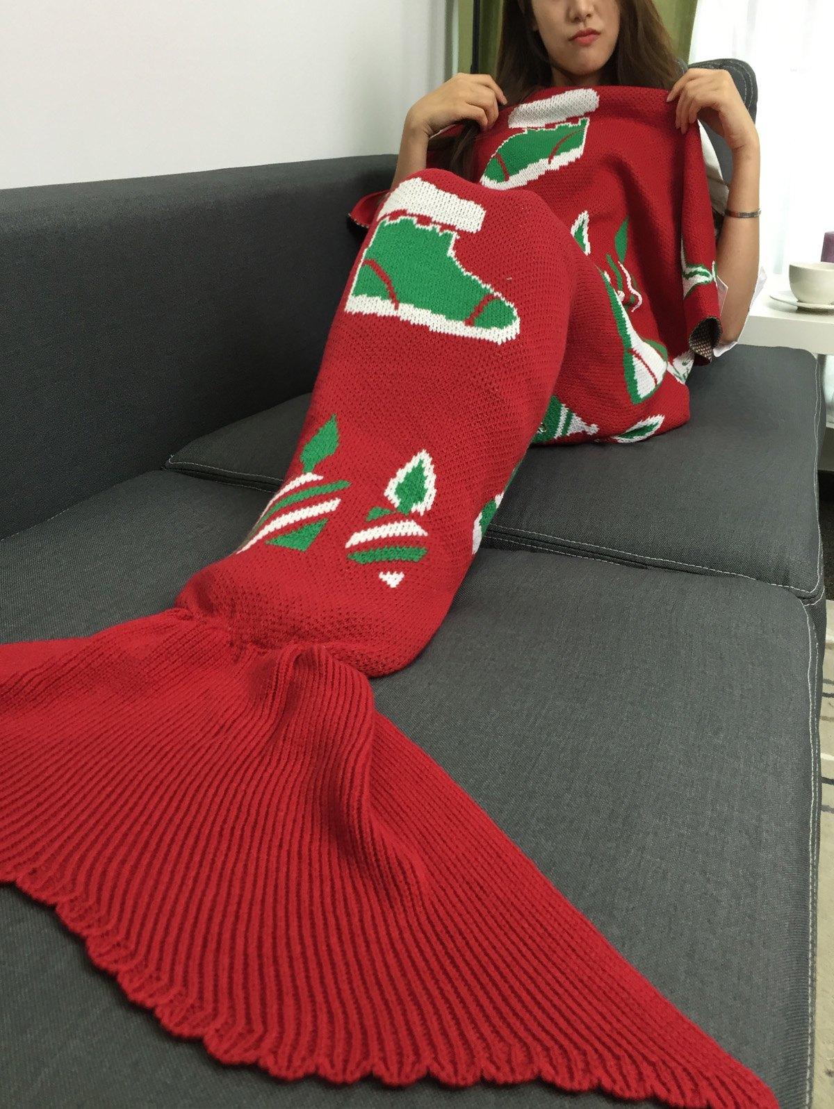 Cadeau de Noël et Snow Man tricotée Mermaid Tail Blanket