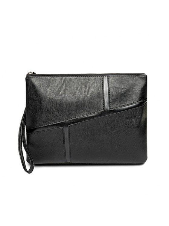 حقيبة اليد كهنوتي بجلد اصطناعي - أسود