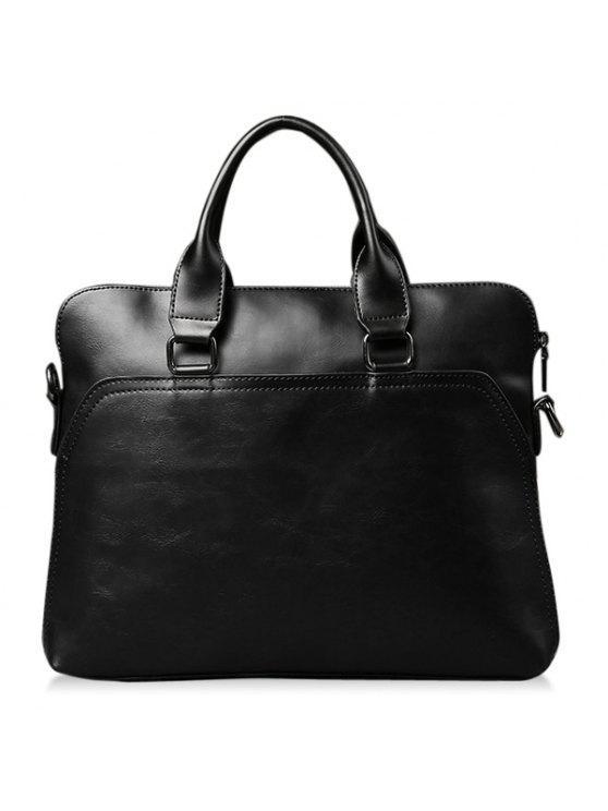 حقيبة رسمية بجلد اصطناعي - أسود