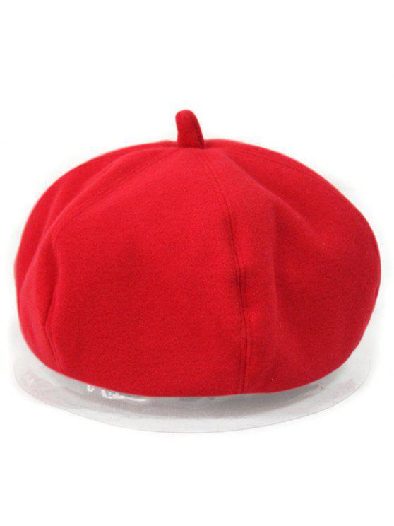 outfits Monotonous Felt Beret - RED
