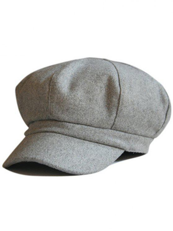 e83cf70af2e 33% OFF  2019 Monotonous Outdoor Newsboy Hat In LIGHT GRAY