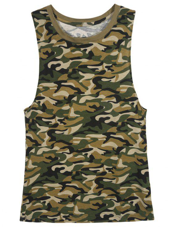Camo sans manches T-shirt - Camouflage XL