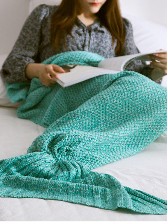 women Warmth Knitted Mermaid Tail Blanket - MINT GREEN L