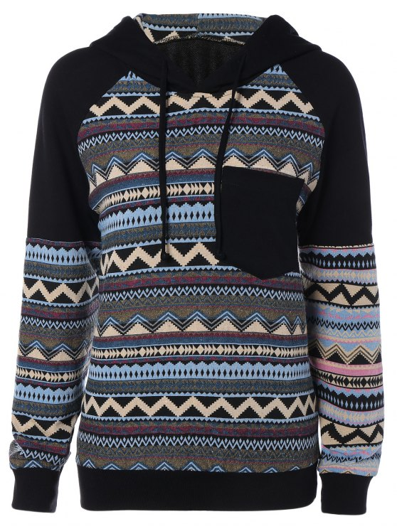 Chevron Stripe Sweat à capuche - Multicolore 2XL