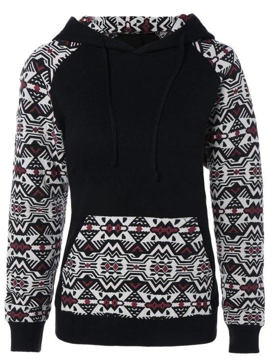Pullover tasca frontale con cappuccio - Bianco e Nero e Ross XL
