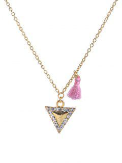 Tassel Design Triangle DIY Pendant Necklace - Golden