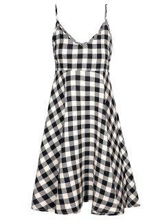 Checked Cami Dress - Plaid S