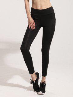 Mesh Panel Gym Leggings - Black S