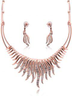 Grass Jewelry Set - Rose Gold