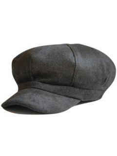 Monotonous Outdoor Newsboy Hat - Black Grey