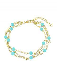 Bohemian Beaded Layered Anklet - Golden