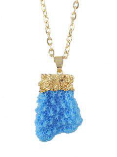 Natural Crystal Necklace - Blue
