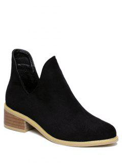 Vintage Slip On Cut Out Ankle Boots - Black 38
