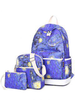 Cremalleras Imprimir En Color Empalme Mochila - Azul