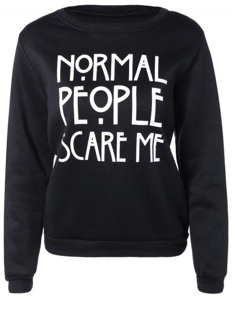 Briefe drucken Sweater - Schwarz S Mobile