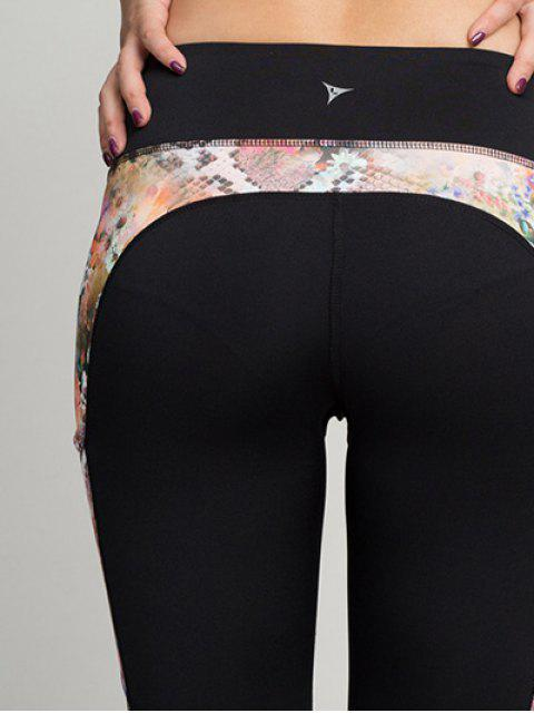 women's Python Print Panel Gym Leggings - ORANGEPINK XL Mobile