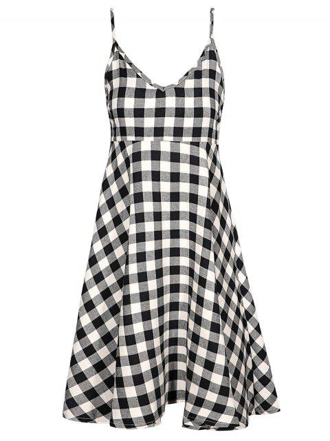 buy Checked Cami Dress - PLAID S Mobile