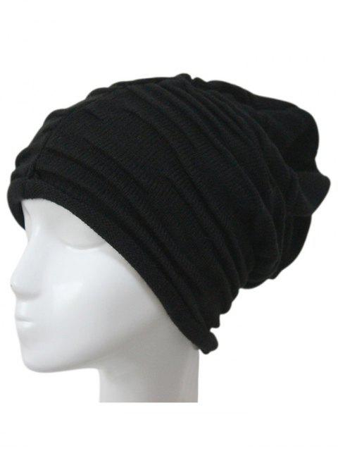 women Casual Ruched Knitted Hat -   Mobile