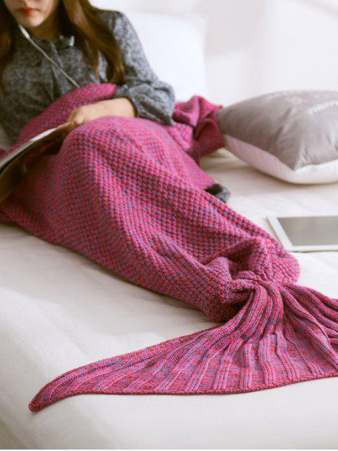 hot Warmth Knitted Mermaid Tail Blanket - VIOLET M Mobile