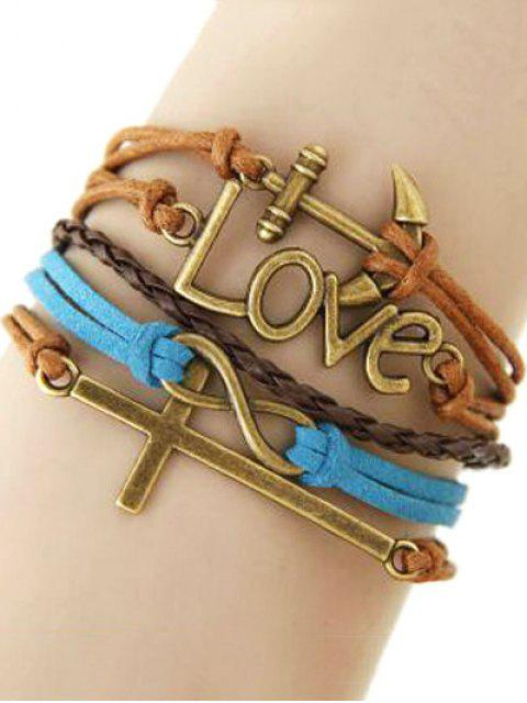 best Cross Anchor Braided Bracelet - COLORMIX  Mobile
