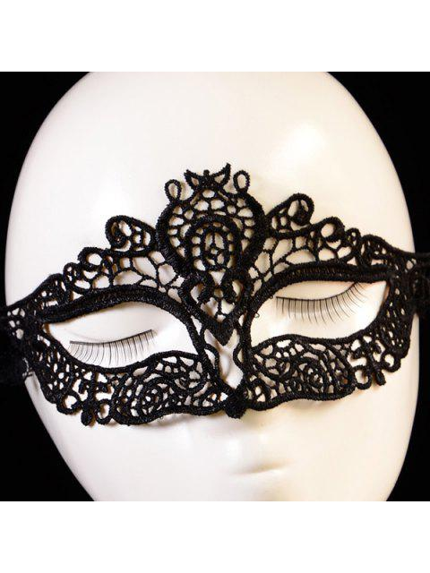 online Hollowed Lace Party Mask - BLACK  Mobile
