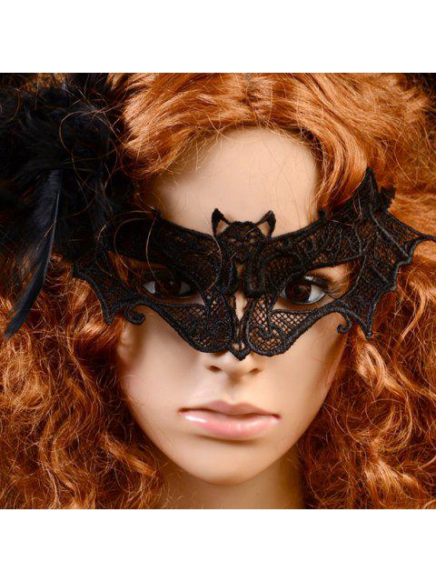 new Gothic Style Bat Lace Party Mask - BLACK  Mobile