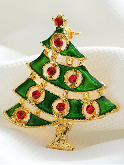 women's Rhinestone Pentagram Alloy Christmas Tree Brooch -   Mobile