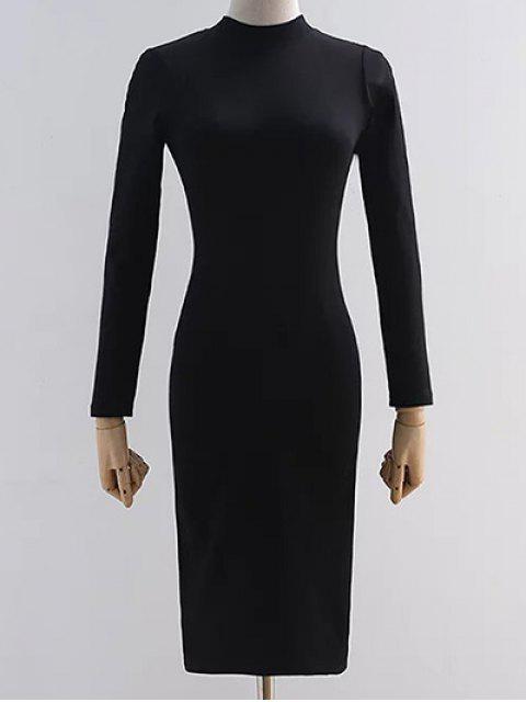Vestido trasero del lápiz del recorte - Negro M Mobile
